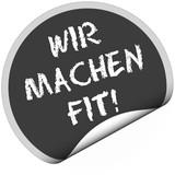 Fototapety TF-Sticker rund curl unten WIR MACHEN FIT!