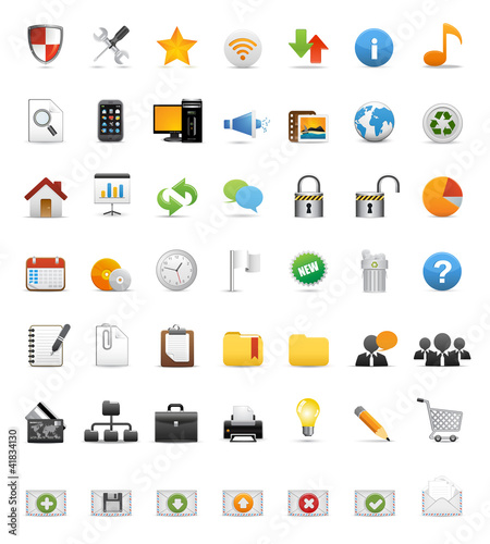 Icons Set for Web Applications & Internet  - Vector