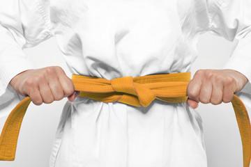 orangener Gürtel