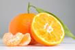 mandarin on a grey background