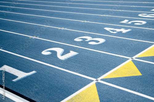Stadium marking with numbers