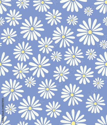Doris Day Flowers on Lavender Seamless Tile