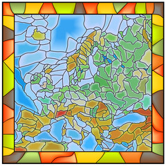 Vector illustration map of Europe.
