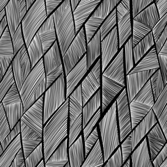 Seamless pattern black and white abstract lines.