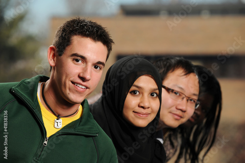 Diverse Group of Students smiling