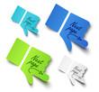 Vector illustration paper hands. Message label