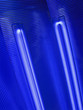 abstract blue bulb lamp, renewable power details