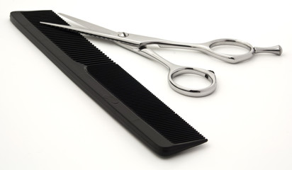 Hair scissors and comb