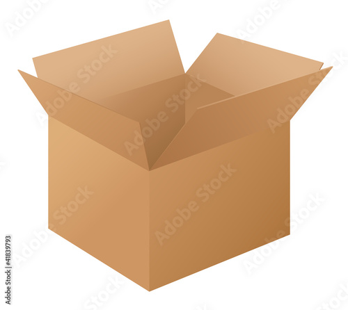 Box on white
