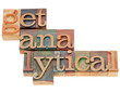 get analytical in wood type