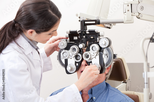 Optometrist Doing Sight Testing