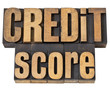 credit score in wood type