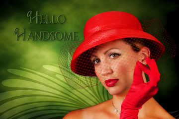 Lady in Red - Vintage