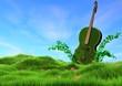 Musik in grüner Natur
