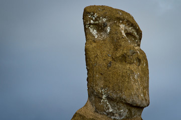 Head Ahu Akivi, Rapa Nui.