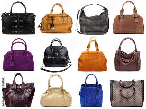 Set of multicolored female bags-2