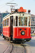 Red vintage tram in Istanbul - 41844922