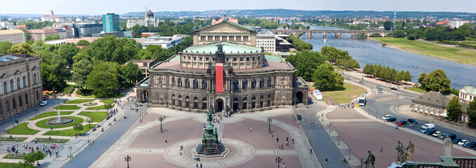 Panorama of Dresden,  Semper Opera House,