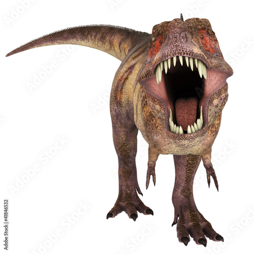 tyranosaur red face to face