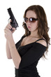 Young woman with gun. (4)