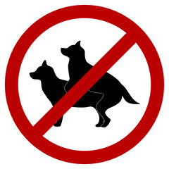 No Doggie Breeding Sign