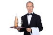 Smart waiter on white background