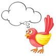 Red bird thinking