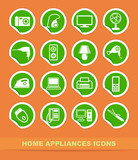 Home appliances icons poster