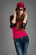 beautiful stylish girl in fashion stylish