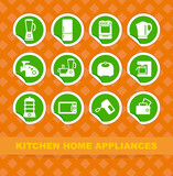 Kitchen home appliances on stickers