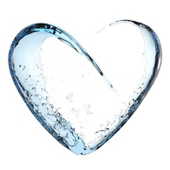 Blue water heart © soulline