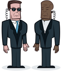 Bodyguards - vector cartoon