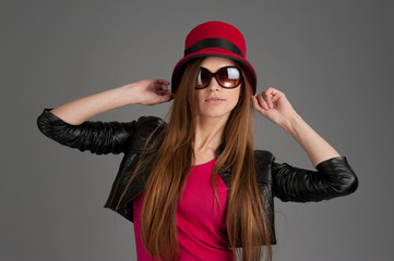 photo of beautiful girl is in fashion style