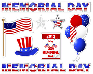 Memorial day stickers.
