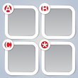 ABC, Square Progress vector Labels in white