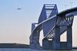 ゲートブリッジと飛行機