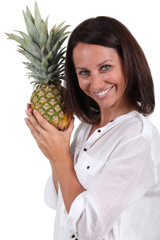 Women with pineapple