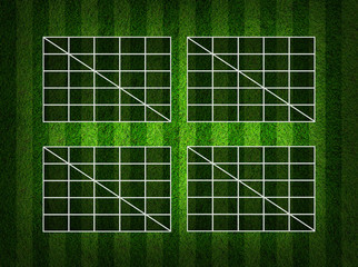 Blank Soccer ( Football )  Table score on grass field