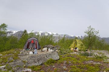 Camp at mountains