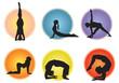 colorful yoga poses