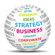 Business strategy world. Vector icon.