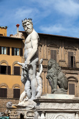 Fountain of Neptune  in the Piazza della Signoria, Florence
