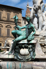 Fountain of Neptune  in the Piazza della Signoria, Florence,