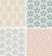 set of seamless pattern with simple ornaments