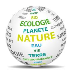 Nature monde écologique. Icône vectoriel.