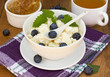 Cottage cheese, honey and fresh berry