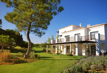 Summer resort villa, lawn and pine(Portugal)