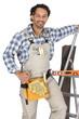 Carpenter wearing a toolbelt