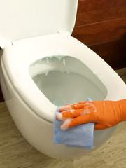 Washing toilet