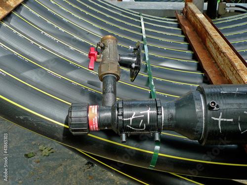 Conduite de gaz sur un chantier